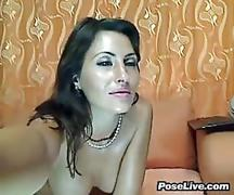 Sexy webcam girl masturbates