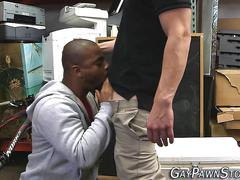 Black amateur tugs dicks