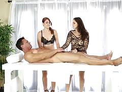 Threeway massage from edyn blair and rose red