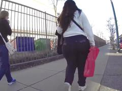 Huge phat ass mature booty candid plump