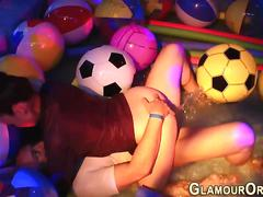 Wet party sluts get eaten