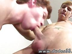 Sexy college boy sucking down dick and boning in hotel room