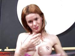 big cock, cumshot, latina, masturbation, panties, shemale