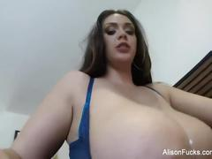 Busty bombshell alison tyler's self shot solo session