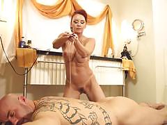 Oiled up sex massage in vegas with janet mason