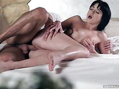 Natural beauty taissia shanti smashed in her t...