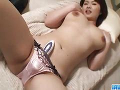 Japanese amateur gets her pussy nailed