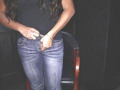 Latina cum swallower sucks off multiple guys