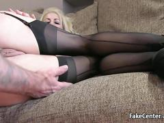 Massive boobied milf nailed on casting