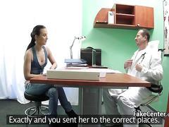 amateur, doctor, hardcore, hidden cam, fucking, brunette, hospital, oral