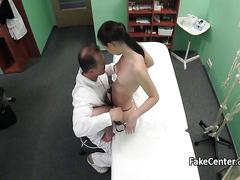 Tattooed pussy babe fucked by doctor