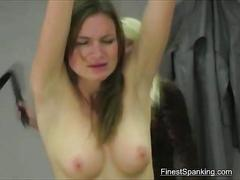 Finest spanking for young babe
