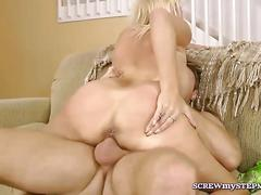 Fervent bitch has a hot time as she rides it