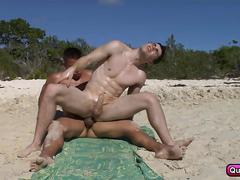 blowjob, masturbation, bareback, twink, anal, fucking, sucking, beach, gay, outdoors