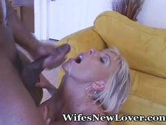 big tits, hardcore, interracial, wifesnewlover, big-boobs, wife, milf, older, blonde, lingerie, stockings, cuckold, bbc, doggy-style, shaved, cumshot, facial