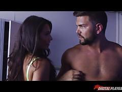 Sexy interrogation sex scene with horny lesbia...