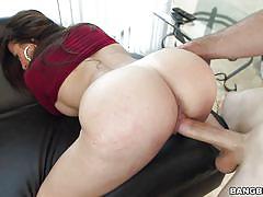big ass, big tits, babe, from behind, brunette latina, pov sex, ass parade, bangbros network, julianna vega