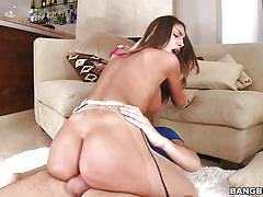 Canadian slut august has an oiled ass