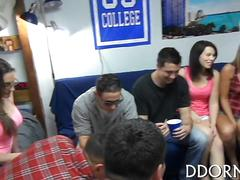 College girls turn a boring party into a fuck fest