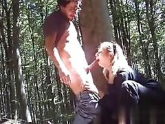 Italian fucking outside in the woods