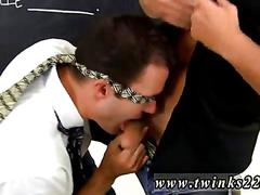 Hairy stud gets his cock sucked off in the classroom