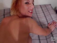 Pov blowjob doggystyle and reverse cowgirl with brittany lynn