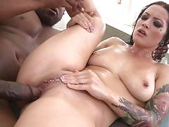 Massive black cock for katrina jade and her sexy creampied pussy