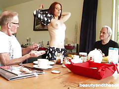 small tits, threesome, handjob, old men, eating pussy, redhead babe, old and young, sucking tits, beauty and the senior, david xxxxx, minnie manga