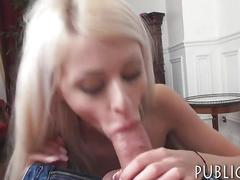Busty amateur blonde eurobabe gets pounded for some money