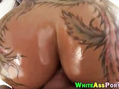 Massive tits bitch gets her juicy ass banged by huge cock