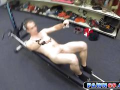 Hunk fitness instructor gets slammed by the pawn keeper for cash