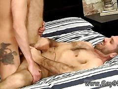 Tattooed twink gets his ass banged from the rear
