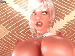 Blonde animated shemale fucking tight pussy