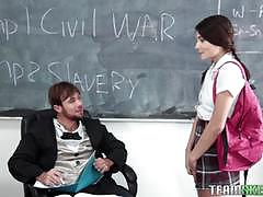 Teacher fucks his sexy student adria rae