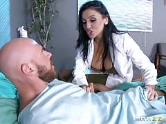 Stunning doctor audrey bitoni fucks a lucky patient