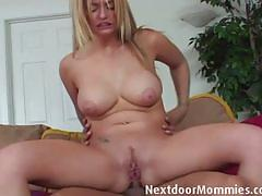 Sumptuous milf aline rides this hard dick