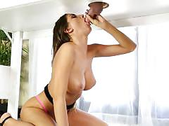 august ames, brunette, blowjob, big tits, cumshot, facial, handjob, wank, fishnet, massage, nerd, geek, glory hole, jerk off, sucking, gloryhole