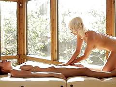 Sensation massage with natasha voya and abigail mac