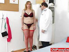 Naughty housewife gets her pussy examined