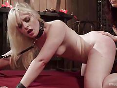 The mistress shows no mercy to sluts