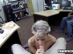 Black guy watches as his tatted up girl sucks a big white dick