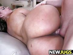 Two horny latinas with big natural tits get fucked hard in colombia