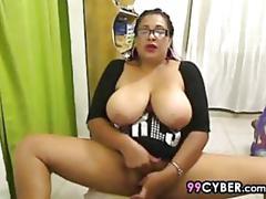 mature, webcam, latina, big tits, fingering, masturbation, milf