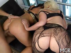 Blonde big ass milf getting fucked doggy style