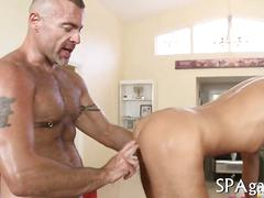 Ravaging the ass and the hunk pleases him so well