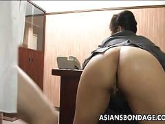 Asian babe fucked from behind