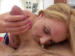 Sexy blonde sucks rocco siffredi off and licks his asshole