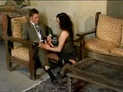 Alexa may in black stockings anal