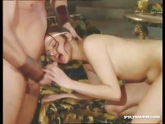 brunette, blowjob, hardcore, big tits, anal, blonde, hairy, pussy licking, vintage