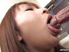 Asian business babe has to get physical sometimes